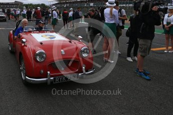 World © Octane Photographic Ltd. Formula 1 - British Grand Prix - Sunday - Drivers Parade. Marcus Ericsson – Sauber F1 Team C36. Silverstone, UK. Sunday 16th July 2017. Digital Ref: 1891LB2D9797