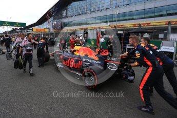World © Octane Photographic Ltd. Formula 1 - British Grand Prix - Sunday - Grid. Max Verstappen - Red Bull Racing RB13. Silverstone, UK. Sunday 16th July 2017. Digital Ref: 1891LB2D9838