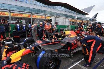 World © Octane Photographic Ltd. Formula 1 - British Grand Prix - Sunday - Grid. Max Verstappen - Red Bull Racing RB13. Silverstone, UK. Sunday 16th July 2017. Digital Ref: 1891LB2D9858