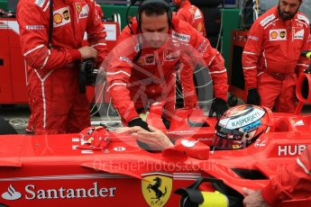 World © Octane Photographic Ltd. Formula 1 - British Grand Prix - Sunday - Grid. Kimi Raikkonen - Scuderia Ferrari SF70H. Silverstone, UK. Sunday 16th July 2017. Digital Ref: 1891LB2D9881