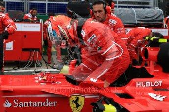 World © Octane Photographic Ltd. Formula 1 - British Grand Prix - Sunday - Grid. Kimi Raikkonen - Scuderia Ferrari SF70H. Silverstone, UK. Sunday 16th July 2017. Digital Ref: 1891LB2D9890