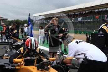World © Octane Photographic Ltd. Formula 1 - British Grand Prix - Sunday - Grid. Nico Hulkenberg - Renault Sport F1 Team R.S.17. Silverstone, UK. Sunday 16th July 2017. Digital Ref: 1891LB2D9928