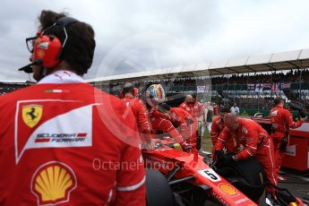 World © Octane Photographic Ltd. Formula 1 - British Grand Prix - Sunday - Grid. Sebastian Vettel - Scuderia Ferrari SF70H. Silverstone, UK. Sunday 16th July 2017. Digital Ref: 1891LB2D9961