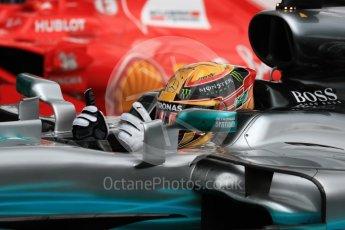 World © Octane Photographic Ltd. Formula 1 - British Grand Prix - Sunday - Race Podium. Lewis Hamilton - Mercedes AMG Petronas F1 W08 EQ Energy+. Silverstone, UK. Sunday 16th July 2017. Digital Ref: 1893LB1D4281
