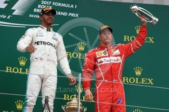World © Octane Photographic Ltd. Formula 1 - British Grand Prix - Sunday - Race Podium. Kimi Raikkonen - Scuderia Ferrari SF70H. Silverstone, UK. Sunday 16th July 2017. Digital Ref: 1893LB1D4927
