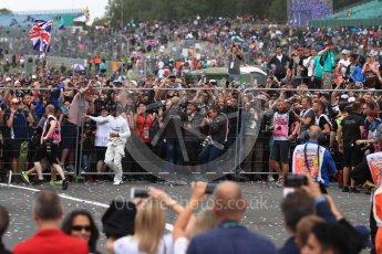 World © Octane Photographic Ltd. Formula 1 - British Grand Prix - Sunday - Race Podium. Lewis Hamilton - Mercedes AMG Petronas F1 W08 EQ Energy+. Silverstone, UK. Sunday 16th July 2017. Digital Ref: 1893LB1D5576