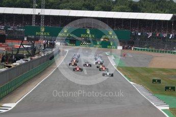 World © Octane Photographic Ltd. Formula 1 - British Grand Prix - Sunday - Race. Lewis Hamilton - Mercedes AMG Petronas F1 W08 EQ Energy+ leads the start. Silverstone, UK. Sunday 16th July 2017. Digital Ref: 1892LB1D3767