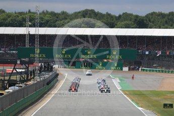 World © Octane Photographic Ltd. Formula 1 - British Grand Prix - Sunday - Race. Lewis Hamilton - Mercedes AMG Petronas F1 W08 EQ Energy+ leads the start. Silverstone, UK. Sunday 16th July 2017. Digital Ref: 1892LB1D3791