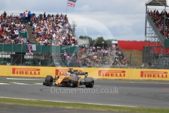 World © Octane Photographic Ltd. Formula 1 - British Grand Prix - Sunday - Race. Nico Hulkenberg - Renault Sport F1 Team R.S.17. Silverstone, UK. Sunday 16th July 2017. Digital Ref: 1892LB1D4167