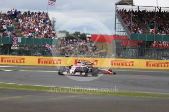 World © Octane Photographic Ltd. Formula 1 - British Grand Prix - Sunday - Race. Esteban Ocon - Sahara Force India VJM10. Silverstone, UK. Sunday 16th July 2017. Digital Ref: 1892LB1D4172