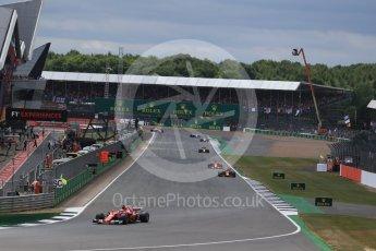 World © Octane Photographic Ltd. Formula 1 - British Grand Prix - Sunday - Race. Kimi Raikkonen - Scuderia Ferrari SF70H. Silverstone, UK. Sunday 16th July 2017. Digital Ref: 1892LB2D0029