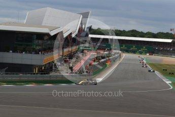 World © Octane Photographic Ltd. Formula 1 - British Grand Prix - Sunday - Race. Nico Hulkenberg - Renault Sport F1 Team R.S.17. Silverstone, UK. Sunday 16th July 2017. Digital Ref: 1892LB2D0075