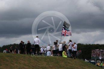 World © Octane Photographic Ltd. Formula 1 - British Grand Prix - Sunday - Race. Fan with silverstone flags. Silverstone, UK. Sunday 16th July 2017. Digital Ref: 1892LB2D0192
