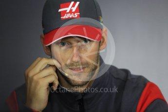 World © Octane Photographic Ltd. Formula 1 - British Grand Prix - Thursday - FIA Driver Press Conference. Romain Grosjean - Haas F1 Team. Silverstone, UK. Thursday 13th July 2017. Digital Ref: 1877LB1D6957