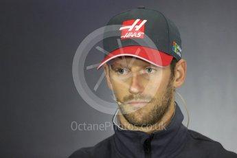 World © Octane Photographic Ltd. Formula 1 - British Grand Prix - Thursday - FIA Driver Press Conference. Romain Grosjean - Haas F1 Team. Silverstone, UK. Thursday 13th July 2017. Digital Ref: 1877LB1D7065