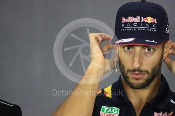 World © Octane Photographic Ltd. Formula 1 - British Grand Prix - Thursday - FIA Driver Press Conference. Daniel Ricciardo - Red Bull Racing. Silverstone, UK. Thursday 13th July 2017. Digital Ref: 1877LB1D7416