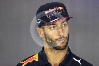 World © Octane Photographic Ltd. Formula 1 - British Grand Prix - Thursday - FIA Driver Press Conference. Daniel Ricciardo - Red Bull Racing. Silverstone, UK. Thursday 13th July 2017. Digital Ref: 1877LB1D7500