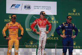 World © Octane Photographic Ltd. FIA Formula 2 (F2) - Race 1. Charles Leclerc (1st) - Prema Racing, Norman Nato (2nd) – Pertamina Arden and Oliver Rowland (3rd) – DAMS. British Grand Prix, Silverstone, UK. Saturday 15th July 2017. Digital Ref: 1887LB1D2340