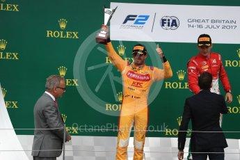 World © Octane Photographic Ltd. FIA Formula 2 (F2) - Race 1. Charles Leclerc (1st) - Prema Racing and Norman Nato (2nd) – Pertamina Arden. British Grand Prix, Silverstone, UK. Saturday 15th July 2017. Digital Ref: 1887LB1D2404