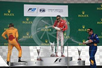 World © Octane Photographic Ltd. FIA Formula 2 (F2) - Race 1. Charles Leclerc (1st) - Prema Racing, Norman Nato (2nd) – Pertamina Arden and Oliver Rowland (3rd) – DAMS. British Grand Prix, Silverstone, UK. Saturday 15th July 2017. Digital Ref: 1887LB1D2465