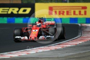 World © Octane Photographic Ltd. Formula 1 - Hungarian Grand Prix Practice 3. Kimi Raikkonen - Scuderia Ferrari SF70H. Hungaroring, Budapest, Hungary. Saturday 29th July 2017. Digital Ref: