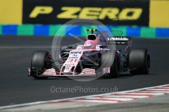 World © Octane Photographic Ltd. Formula 1 - Hungarian Grand Prix Practice 3. Esteban Ocon - Sahara Force India VJM10. Hungaroring, Budapest, Hungary. Saturday 29th July 2017. Digital Ref: