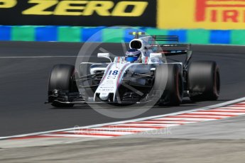 World © Octane Photographic Ltd. Formula 1 - Hungarian Grand Prix Practice 3. Lance Stroll - Williams Martini Racing FW40. Hungaroring, Budapest, Hungary. Saturday 29th July 2017. Digital Ref: