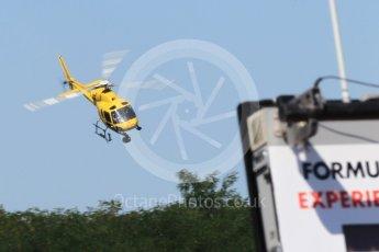 World © Octane Photographic Ltd. Formula 1 - Hungarian Grand Prix Practice 3. TV Helicopter Aerospatiale 355N Ecureuil 2 - OO-HCE. Hungaroring, Budapest, Hungary. Saturday 29th July 2017. Digital Ref: