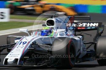 World © Octane Photographic Ltd. Formula 1 - Hungarian Grand Prix Practice 3. Felipe Massa - Williams Martini Racing FW40 and Nico Hulkenberg - Renault Sport F1 Team R.S.17. Hungaroring, Budapest, Hungary. Saturday 29th July 2017. Digital Ref: