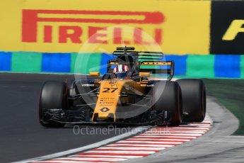 World © Octane Photographic Ltd. Formula 1 - Hungarian Grand Prix Practice 3. Nico Hulkenberg - Renault Sport F1 Team R.S.17. Hungaroring, Budapest, Hungary. Saturday 29th July 2017. Digital Ref: