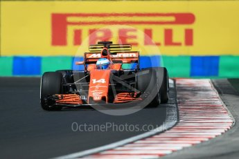 World © Octane Photographic Ltd. Formula 1 - Hungarian Grand Prix Practice 3. Fernando Alonso - McLaren Honda MCL32. Hungaroring, Budapest, Hungary. Saturday 29th July 2017. Digital Ref: