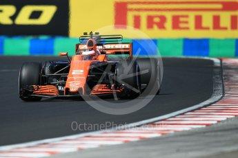 World © Octane Photographic Ltd. Formula 1 - Hungarian Grand Prix Practice 3. Stoffel Vandoorne - McLaren Honda MCL32. Hungaroring, Budapest, Hungary. Saturday 29th July 2017. Digital Ref: