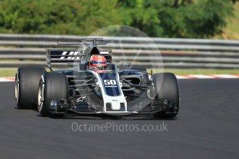 World © Octane Photographic Ltd. Formula 1 - Hungarian in-season testing. Santino Ferrucci - Haas F1 Team VF-17. Hungaroring, Budapest, Hungary. Tuesday 1st August 2017. Digital Ref:1916CB1L2490
