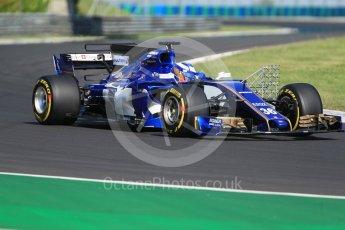 World © Octane Photographic Ltd. Formula 1 - Hungarian in-season testing. Gustav Malja – Sauber F1 Team C36. Hungaroring, Budapest, Hungary. Tuesday 1st August 2017. Digital Ref:1916CB1L2737