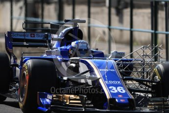 World © Octane Photographic Ltd. Formula 1 - Hungarian in-season testing. Gustav Malja – Sauber F1 Team C36. Hungaroring, Budapest, Hungary. Tuesday 1st August 2017. Digital Ref:1916LB1D2328