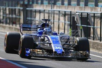 World © Octane Photographic Ltd. Formula 1 - Hungarian in-season testing. Gustav Malja – Sauber F1 Team C36. Hungaroring, Budapest, Hungary. Tuesday 1st August 2017. Digital Ref:1916LB1D2397