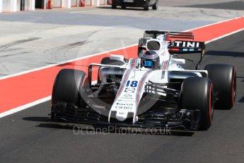 World © Octane Photographic Ltd. Formula 1 - Hungarian in-season testing. Lance Stroll - Williams Martini Racing FW40. Hungaroring, Budapest, Hungary. Tuesday 1st August 2017. Digital Ref: