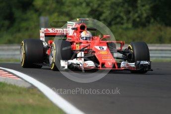World © Octane Photographic Ltd. Formula 1 - Hungarian in-season testing. Sebastian Vettel - Scuderia Ferrari SF70H. Hungaroring, Budapest, Hungary. Wednesday 2nd August 2017. Digital Ref: