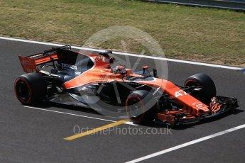 World © Octane Photographic Ltd. Formula 1 - Hungarian in-season testing. Lando Norris - McLaren Honda MCL32. Hungaroring, Budapest, Hungary. Wednesday 2nd August 2017. Digital Ref:1917CB2D5383