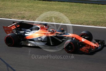 World © Octane Photographic Ltd. Formula 1 - Hungarian in-season testing. Lando Norris - McLaren Honda MCL32. Hungaroring, Budapest, Hungary. Wednesday 2nd August 2017. Digital Ref:1917CB2D5385