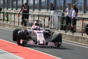 World © Octane Photographic Ltd. Formula 1 - Hungarian in-season testing. Lucas Auer - Sahara Force India VJM10. Hungaroring, Budapest, Hungary. Wednesday 2nd August 2017. Digital Ref: