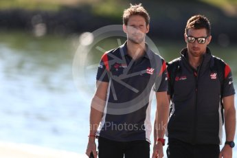 World © Octane Photographic Ltd. Formula 1 - Canadian Grand Prix - Saturday Paddock. Romain Grosjean - Haas F1 Team VF-17. Circuit Gilles Villeneuve, Montreal, Canada. Saturday 10th June 2017. Digital Ref: 1849LB1D4760