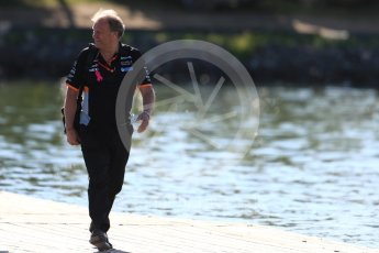 World © Octane Photographic Ltd. Formula 1 - Canadian Grand Prix - Saturday Paddock. Robert Fernley - Deputy Team Principal of Sahara Force India. Circuit Gilles Villeneuve, Montreal, Canada. Saturday 10th June 2017. Digital Ref: 1849LB1D4781