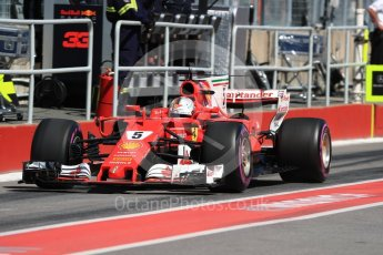 World © Octane Photographic Ltd. Formula 1 - Canadian Grand Prix - Saturday - Practice 3. Sebastian Vettel - Scuderia Ferrari SF70H. Circuit Gilles Villeneuve, Montreal, Canada. Saturday 10th June 2017. Digital Ref: 1853LB1D5586