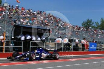World © Octane Photographic Ltd. Formula 1 - Canadian Grand Prix - Saturday - Practice 3. Pascal Wehrlein – Sauber F1 Team C36. Circuit Gilles Villeneuve, Montreal, Canada. Saturday 10th June 2017. Digital Ref: 1853LB2D2780