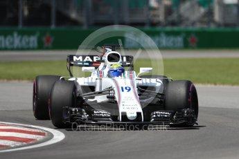 World © Octane Photographic Ltd. Formula 1 - Canadian Grand Prix - Saturday - Qualifying. Felipe Massa - Williams Martini Racing FW40. Circuit Gilles Villeneuve, Montreal, Canada. Saturday 10th June 2017. Digital Ref: 1854LB1D6266