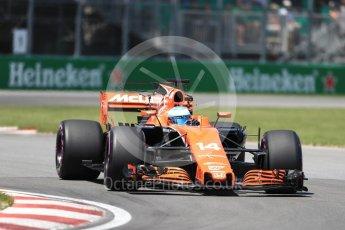 World © Octane Photographic Ltd. Formula 1 - Canadian Grand Prix - Saturday - Qualifying. Fernando Alonso - McLaren Honda MCL32. Circuit Gilles Villeneuve, Montreal, Canada. Saturday 10th June 2017. Digital Ref: 1854LB1D6404