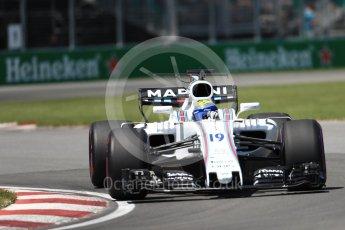 World © Octane Photographic Ltd. Formula 1 - Canadian Grand Prix - Saturday - Qualifying. Felipe Massa - Williams Martini Racing FW40. Circuit Gilles Villeneuve, Montreal, Canada. Saturday 10th June 2017. Digital Ref: 1854LB1D6658