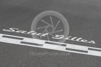 World © Octane Photographic Ltd. Formula 1 - Canadian Grand Prix - Sunday Drivers Parade & Grid. Salut Gilles. Circuit Gilles Villeneuve, Montreal, Canada. Sunday 11th June 2017. Digital Ref: 1856LB1D7497