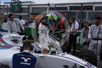 World © Octane Photographic Ltd. Formula 1 - Canadian Grand Prix - Sunday Drivers Parade & Grid. Felipe Massa - Williams Martini Racing FW40. Circuit Gilles Villeneuve, Montreal, Canada. Sunday 11th June 2017. Digital Ref: 1856LB2D3462